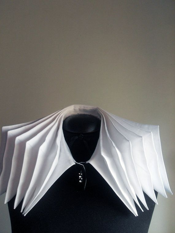 Pleated Accordion Collar - sewing; transformational reconstruction; innovative pattern cutting // FedRaDD