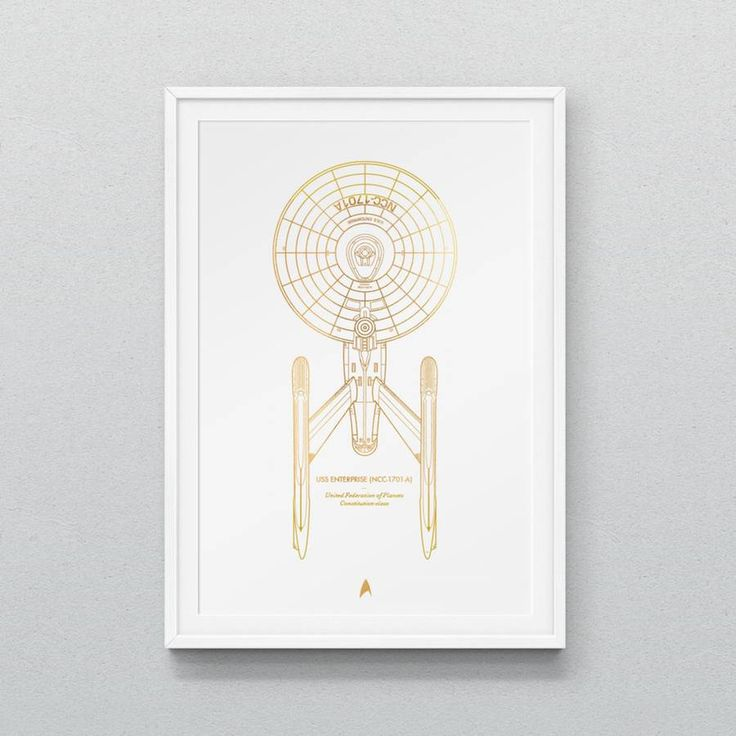 Latest Star Strek Spaceships Prints by Dean Smith  Here the new prints of Dean Robert Smith which we have previously talked about with a minimalist series of The Walking Dead. In the same way the artist turns Star Trek mythic spaceships into elegant illustrations.           #xemtvhay