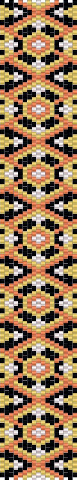 Схемы браслетов - мозаичное плетение - free peyote patterns