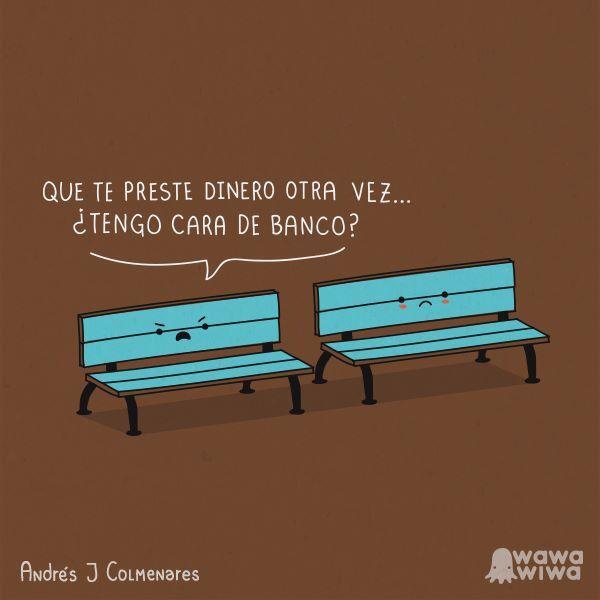 Cara de banco - Happy drawings :)