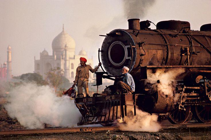 Taj and Train   Steve McCurry