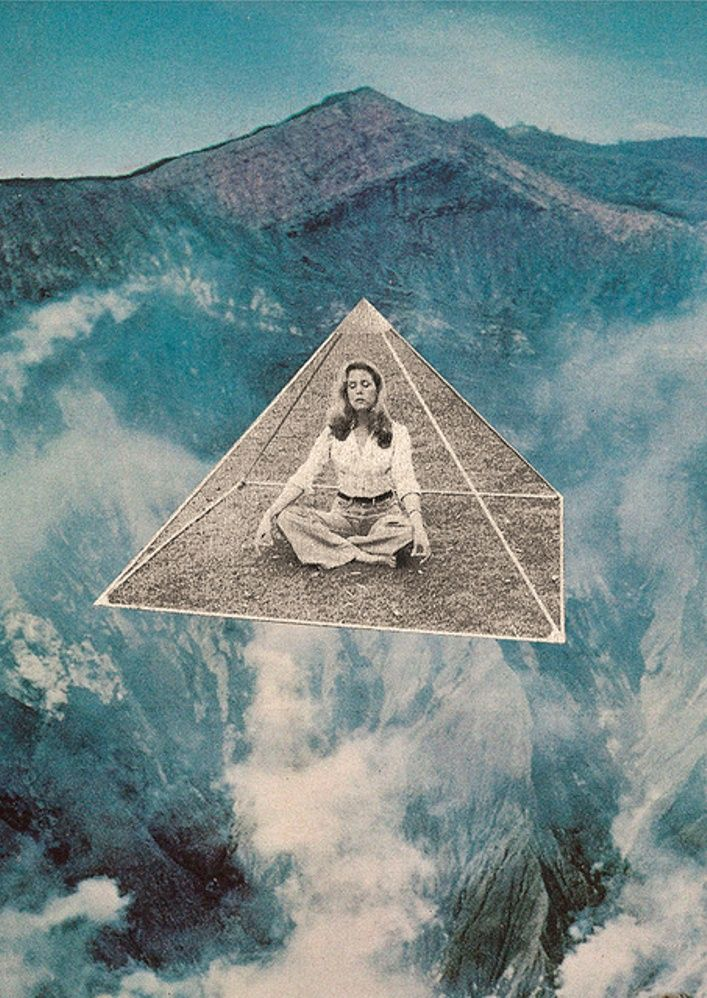 ///// Collage Woman Mountains