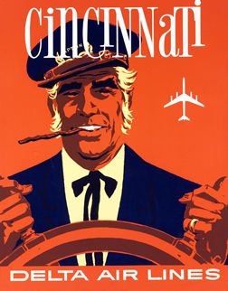 Cincinnati - Delta Air Lines, 1955 ca. ---Artist unknown