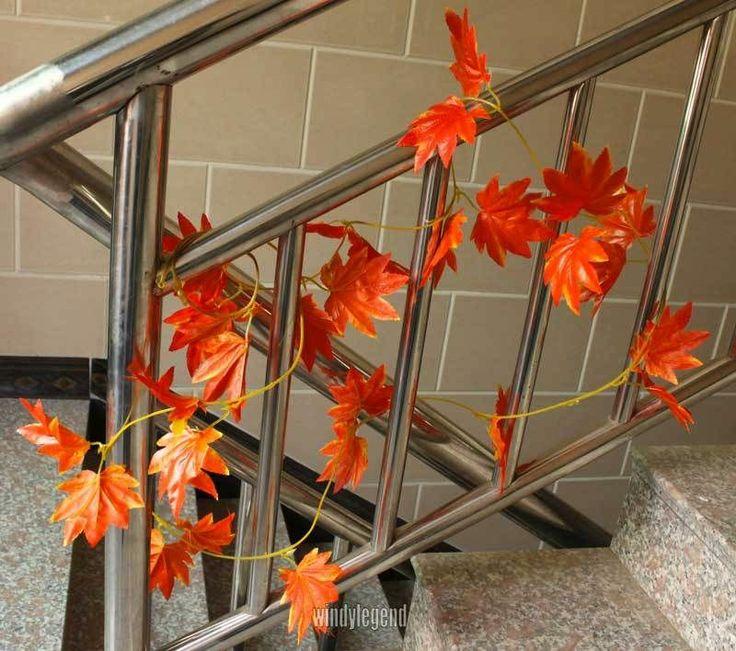 2 Meters Artificial Red Autumn Maple Leaf Vine Wedding Home Decor Garland