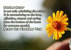 Sorry For Hurting You, I am Sorry
