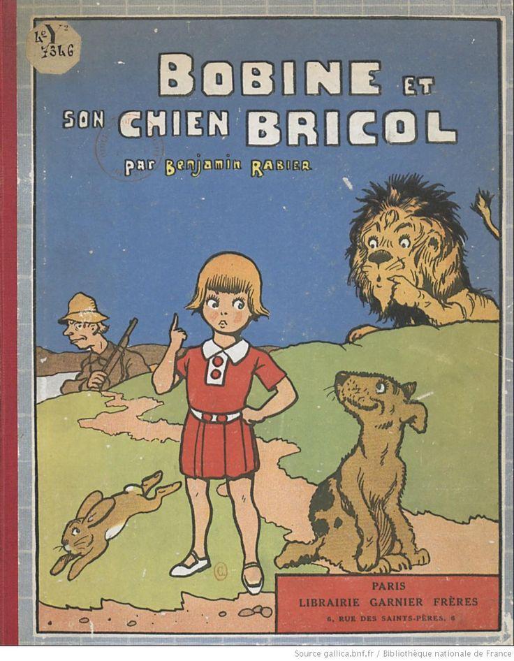 Bobine et son chien Bricol, par Benjamin Rabier, 1930