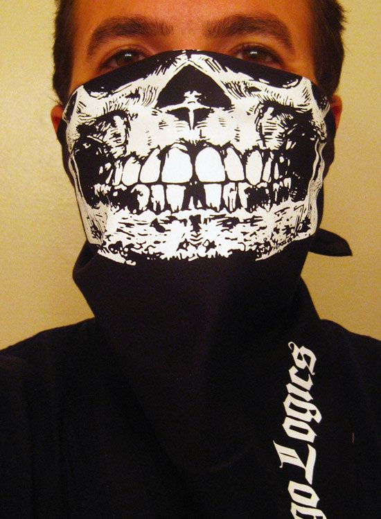 SAVAGES movie half skull bandana mask biker airsoft paintball ski snow board rave. $9.99, via Etsy.