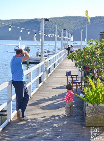 Jetty at The Boathouse, Palm Beach; see the seaplane parked in the background? Yes, you can fly there via this Sydney icon . . .