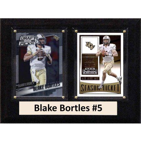 C & I Collectables Ncaa 6 inch x 8 inch Blake Bortles UCF Knights 2 Card Plaque
