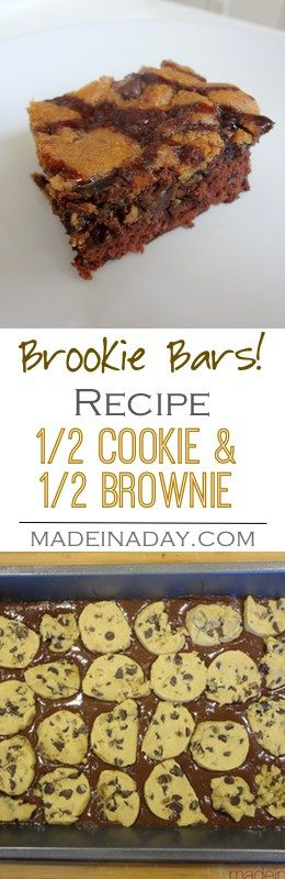 Brookie Bars! Cookies & Brownies Combined! How to make the popular Brookie Bars! Layering Brownies and Cookie dough to make this yummy treat!  via @thelovelymrsp