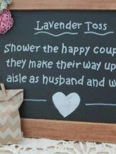 Lavender Toss Sign