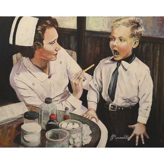 carolina herrera handbags School Nurse a print of an original acrylic painting