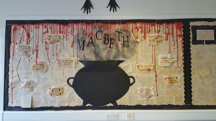 Macbeth display  || Ideas and inspiration for teaching GCSE English || www.gcse.english.com ||