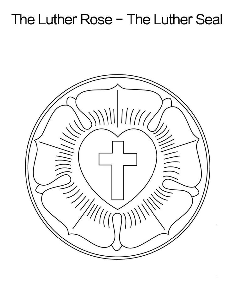 1000 images about martin luther on pinterest lutheran for Luther s seal coloring page