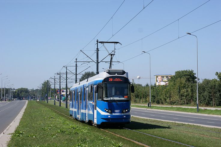 Kraków, tramwaj EU8N #3027, ulica Lipska - #Krakow, #tramwaj, #tram