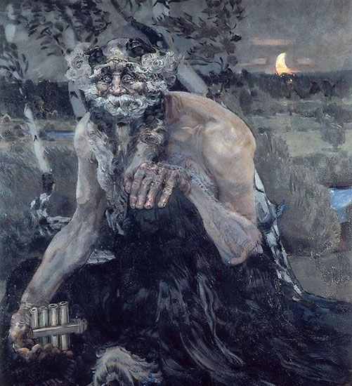 The Pan - 1900  Russian Art: Mikhail Vrubel (1856-1910)