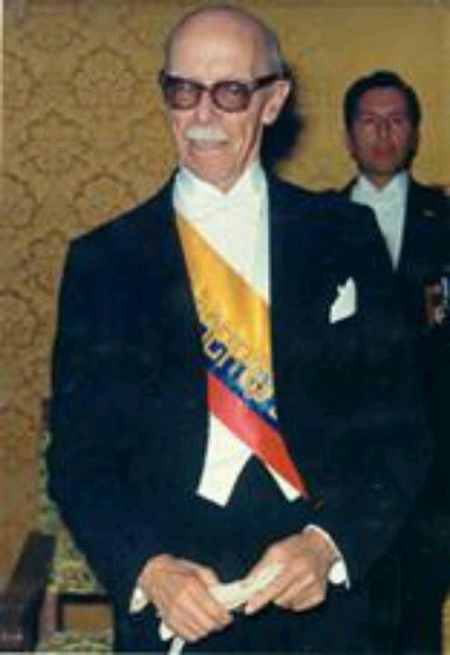 Jose Maria Velasco Ibarra, 'el quijote cuerdo que goberno por 40 años al Ecuador. Elegido 5 veces Presidente.