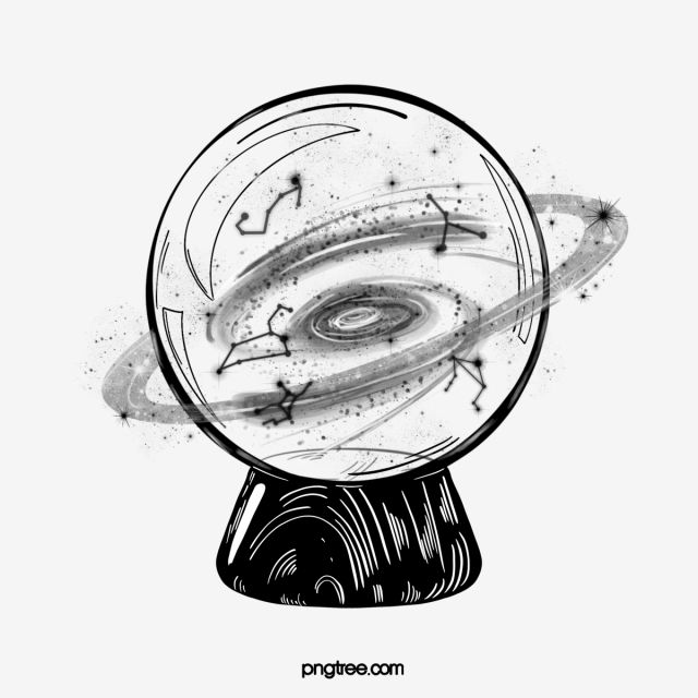 Hand Drawn Crystal Glass Ball Hand Painted Black And White Line Png Transparent Clipart Image And Psd File For Free Download Glass Ball Crystal Drawing How To Draw Hands