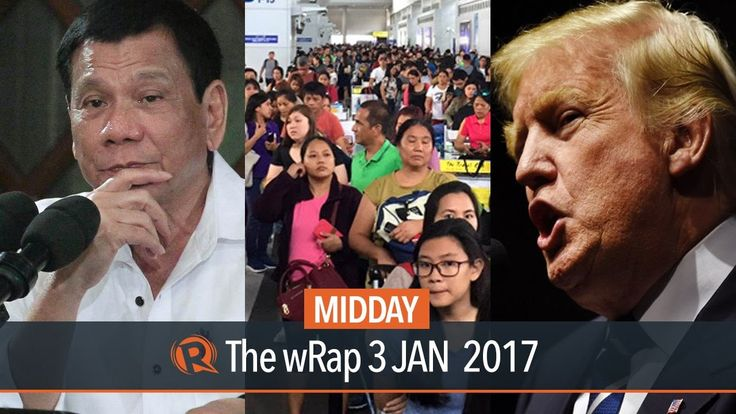 Firecracker ban, POEA glitch, Trump | Midday wRap - WATCH VIDEO HERE -> http://dutertenewstoday.com/firecracker-ban-poea-glitch-trump-midday-wrap/   Today on Rappler: – Andanar: Duterte is weighing impact of total firecrackers ban on industry – Long lines at NAIA because of POEA system breakdown – Trump: North Korea won't develop long-range nuclear missile Follow Rappler on Social Media: Facebook – Twitter...