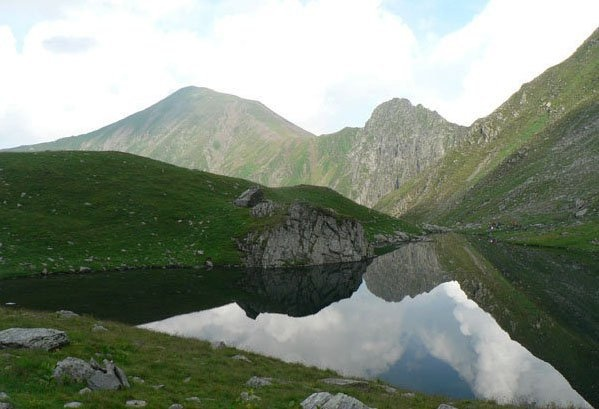 Avrig Lake, Fagaras Mountains, Romania
