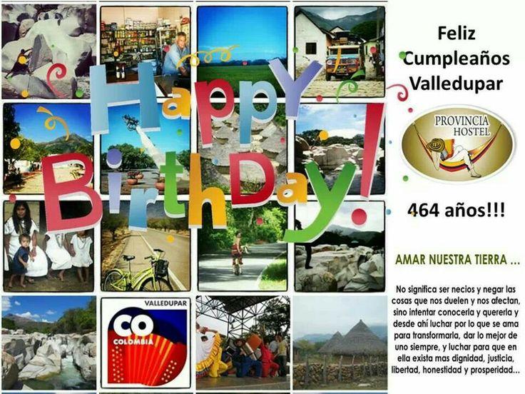 Feliz cumpleaños valledupar, colombia