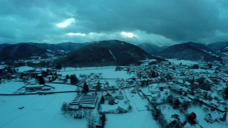 Neige sur la vallée