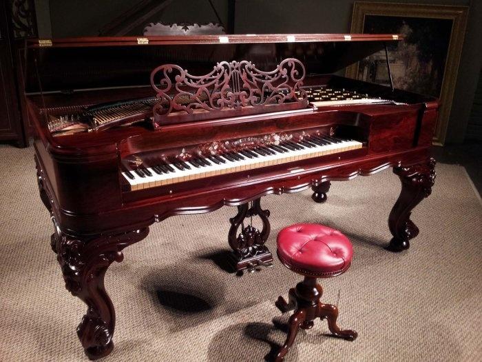 Gabler Rococo Style Square Grand Piano 1868 A Beautiful
