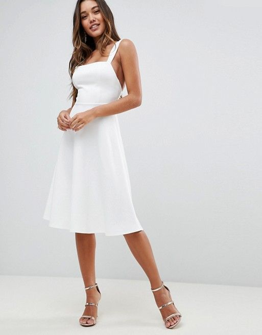 84260b3a9fd1 Miss Bianca Duchess Marie Eve Bolt Olaf White Rabbit Leia Pegasus Mrs.  Potts - Disneybound - ASOS Square Neck Prom Dress