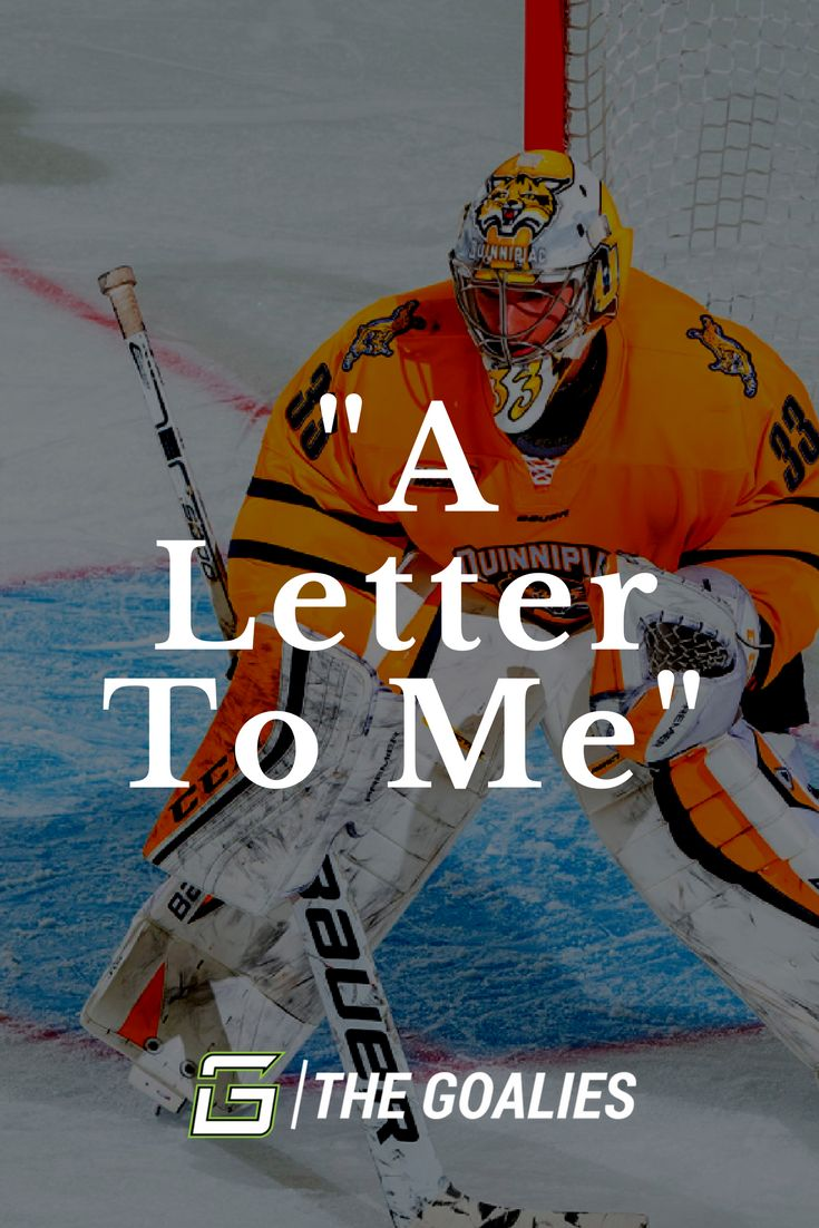 """A Letter To Me"" is an article written by Division 1 Goaltender Chris Truehl (Quinnipiac University) on his journey that lead him to the NCAA and eventually professional hockey."
