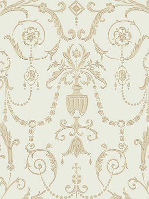 Cole & Son Wallpaper Regalia-Olive & Gold $132.50 per 11 yard roll #interiors #decor #royaldecor