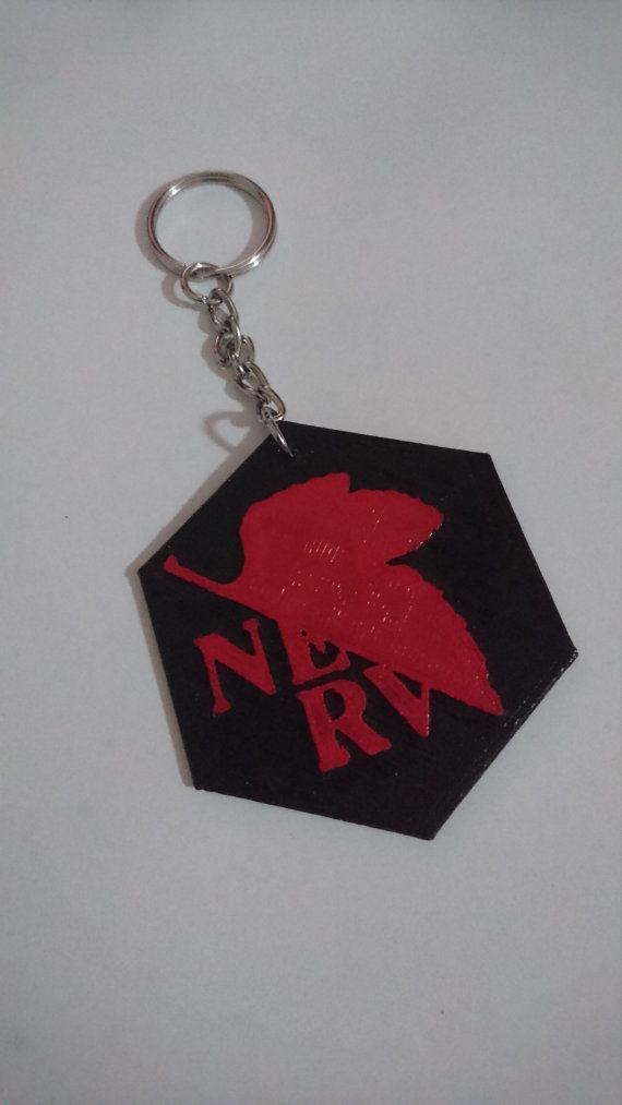 Neon Genesis Evangelion NERV Logo  Keychain - JacProWorkshop
