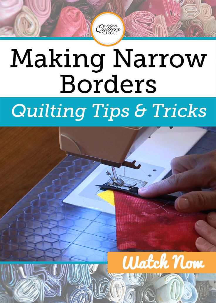 Dana Jones shows you two helpful techniques for making a narrow border on your quilts. She demonstrates each technique while teaching you how to put quarter inch strips into your quilts. Find out when to utilize this simple technique and see how beneficial these tips can truly be for you. Improve your quilting skills today with these quilting techniques for making narrow borders.