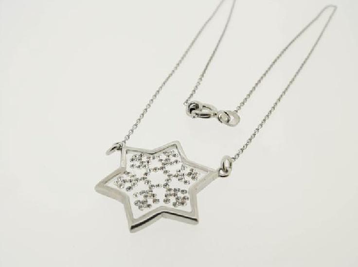 $33 Italian Swarovski Crystal Necklace In 925 Sterling Silver, info@bijuterie-online.ro