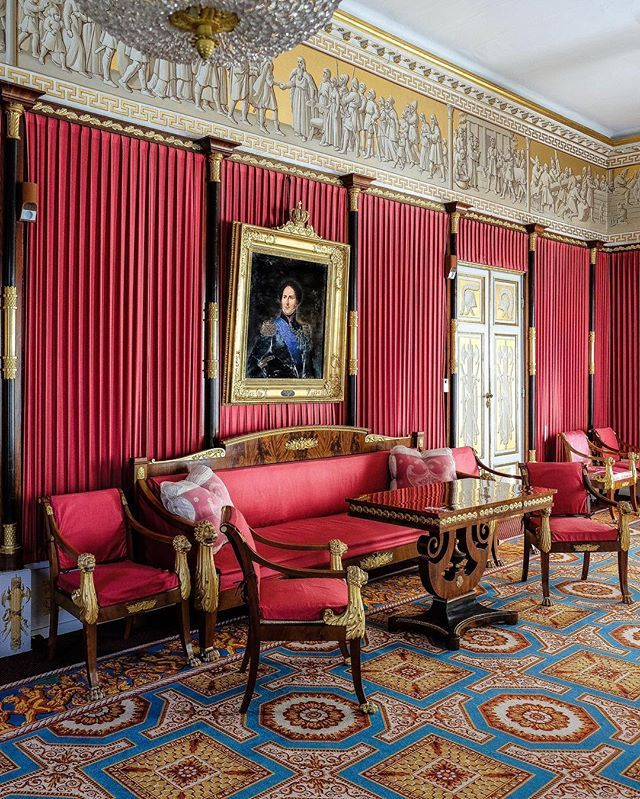 A Red Tent For A Warrior King Part Ii Red Room Rosendal Slott The Freeze Was Completed In 1829 By Hjalmar Morn Red Rooms Classical Interior Design Red Tent