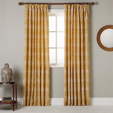 ee07c8e1415 Buy John Lewis Saigon Lined Pencil Pleat Curtains Online at johnlewis.com