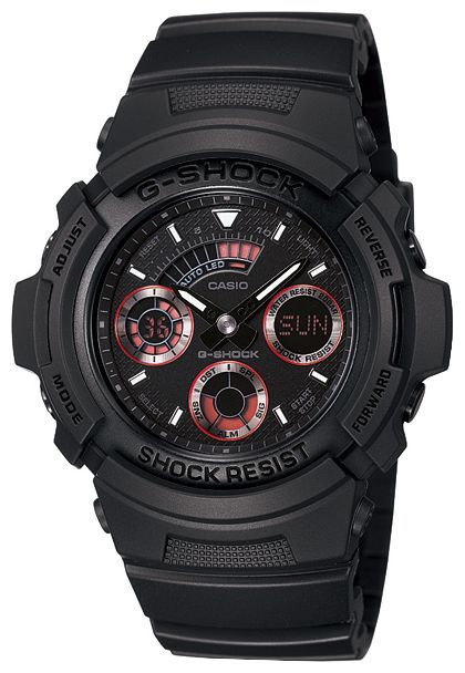 Casio Mens G-Shock Analog-Digital Black Sports Watch