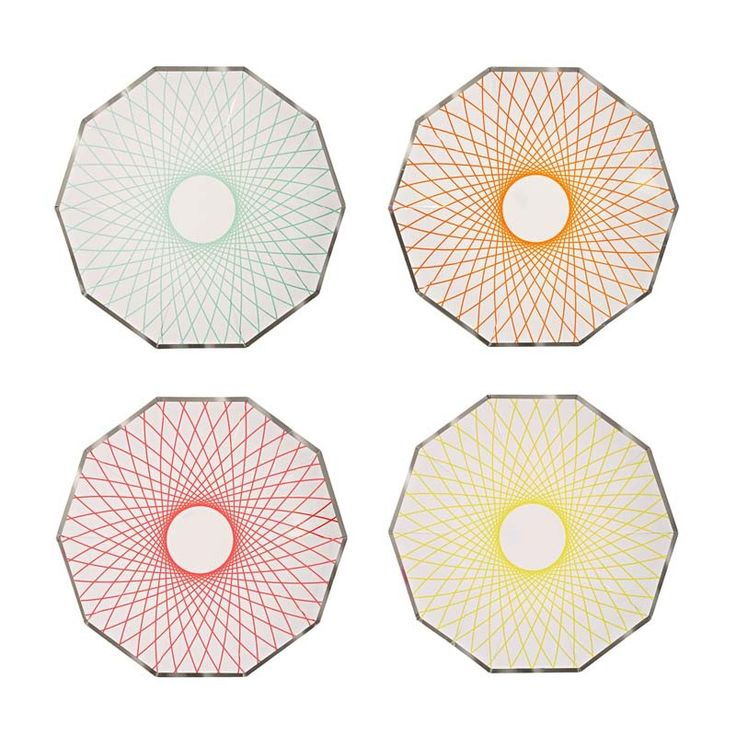 Spirograph Party Plates | Party Tableware | Meri Meri Party Supplies - The Party Cupboard Online Party Shop Australia