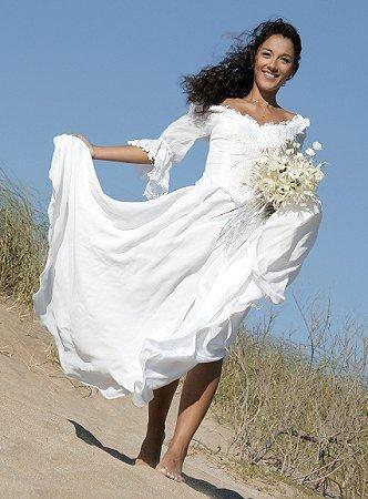 Pictures of Beach Wedding Dresses [Slideshow]