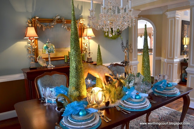 My Christmas Tablescape Via Worthing Court Blog