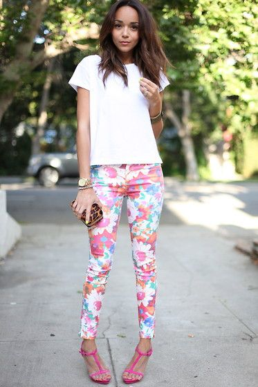 #fashion #Flower: Fashion, Floral Prints, Prints Pants, Style, Outfit, Ashley Madekwe, Jeans, Flower Power, Floral Pants