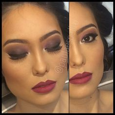 Hoje no @beautylounge_paulaespelho Make para orientais, com olhos esfumados em tons de Uva, delineado grosso, pele #airbrush @temptu e batom Diva @maccosmetics para a linda modelo @naganava #paulaespelho #maccosmetics #diva #orientais #makeupartist #temptu #beautyloungepaulaespelho # lellit