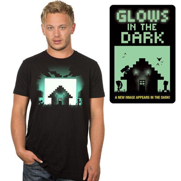 Minecraft Survival Glow in the Dark T-Shirt - Gamer T-Shirt
