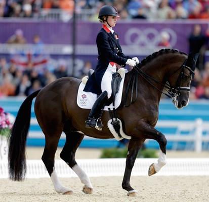 Great Britain's Charlotte DuJardin and her horse Valegro