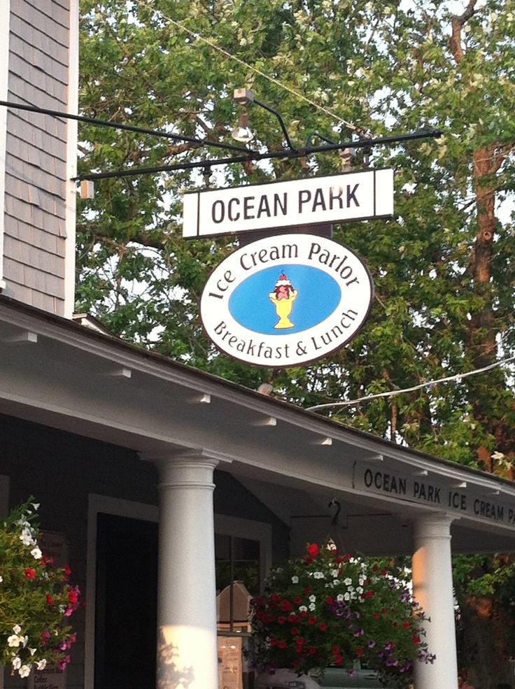 ocean Park Ice cream parlor, ME