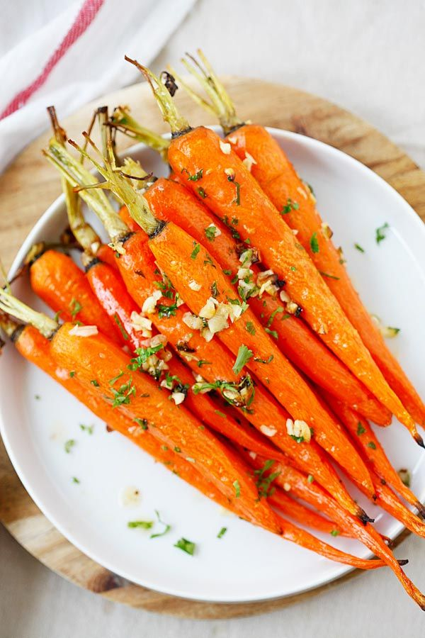 Honey Butter Roasted Carrots - roasted carrots, with honey, butter and garlic | rasamalaysia.com