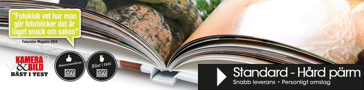 Fotobok | Snabb leverans & Bäst i Test - Gör din egen fotobok