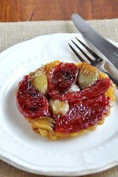 Tarte tatin de tomates aux échalotes