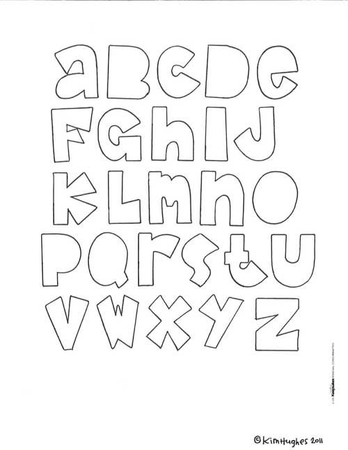 Download: Free Printable Letters for Scrapbooks