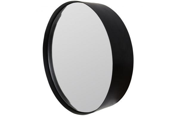 Trendhopper ● Deze zwarte ronde spiegel is er in drie verschillende maten. Perfect om te combineren als blikvanger in je hal of woonkamer.