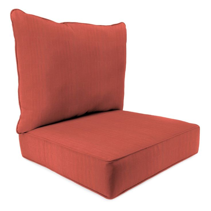 This 2pc Deep Seat Cushion from Jordan will add a soft and colorful touch to your existing patio, porch or poolside seating. This fade-, UV- and weather-resistant patio seat cushion will look great as a part of your outdoor space and will give you lasting use. Add your own personal touch by adding an accent pillow that ties together the entire setting.